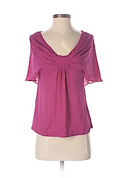Robert Rodriguez Short Sleeve Silk Top Size 0