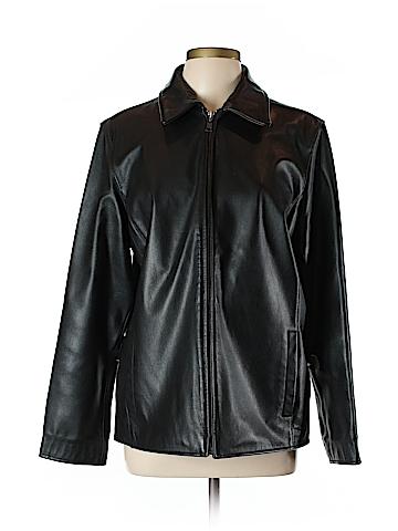 Eddie Bauer Leather Jacket Size L (Tall)
