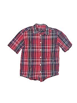 Cherokee Short Sleeve Button-Down Shirt Size 4 - 5