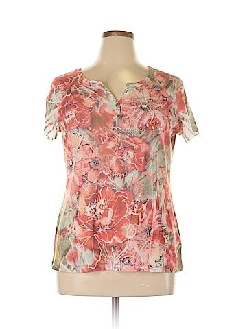 Style&Co Short Sleeve Henley Size 1X (Plus)