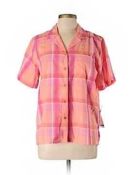 Alfred Dunner Short Sleeve Button-Down Shirt Size 12 (Petite)