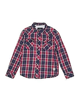 Buffalo by David Bitton Long Sleeve Button-Down Shirt Size 7