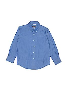 Rugged Bear Long Sleeve Button-Down Shirt Size 6
