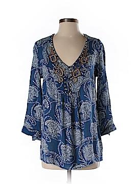 Fleur bleue 3/4 Sleeve Blouse Size S