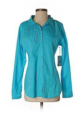DownEast Basics Long Sleeve Button-Down Shirt Size L