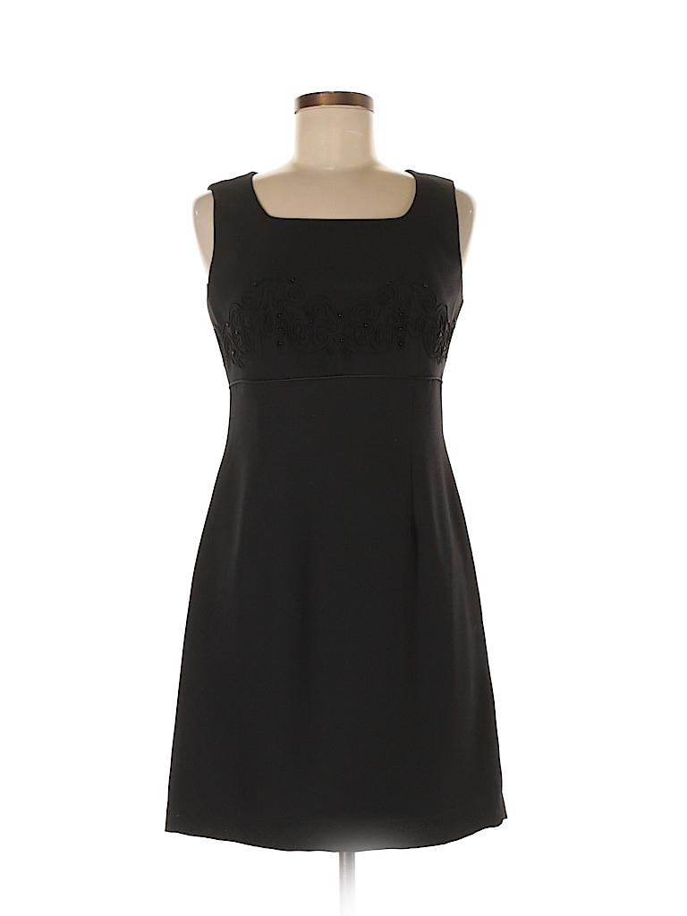 95b3beccb12 Casual Corner Annex 100% Polyester Black Casual Dress Size 6 (Petite ...