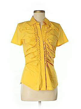 Alfani Short Sleeve Button-Down Shirt Size 6