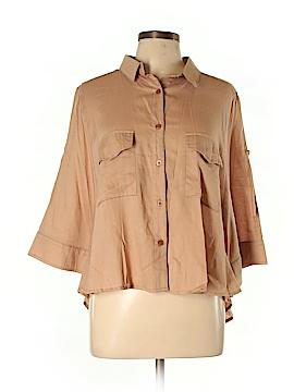 Uniq 3/4 Sleeve Button-Down Shirt Size M