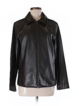 Eddie Bauer Leather Jacket Size M