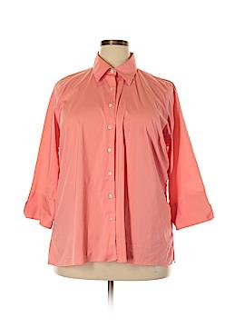 Lands' End Long Sleeve Button-Down Shirt Size 22 (Plus)