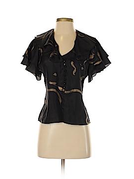 Lauren by Ralph Lauren Short Sleeve Silk Top Size 2