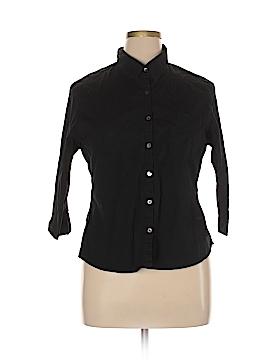 Isabella Bird 3/4 Sleeve Button-Down Shirt Size XL