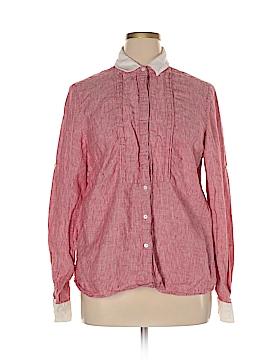 Wrap Long Sleeve Button-Down Shirt Size 48 (EU)