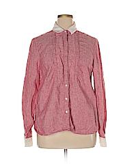 Wrap Women Long Sleeve Button-Down Shirt Size 48 (EU)