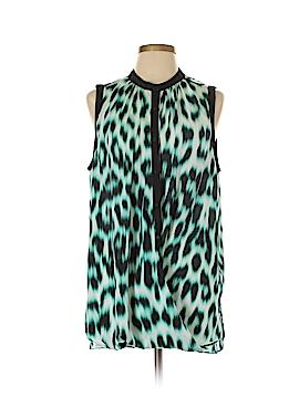Nicole Miller Sleeveless Button-Down Shirt Size XL