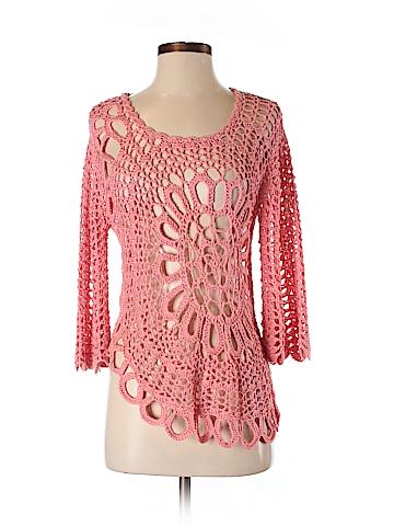 Roz & Ali 3/4 Sleeve Blouse Size S (Petite)