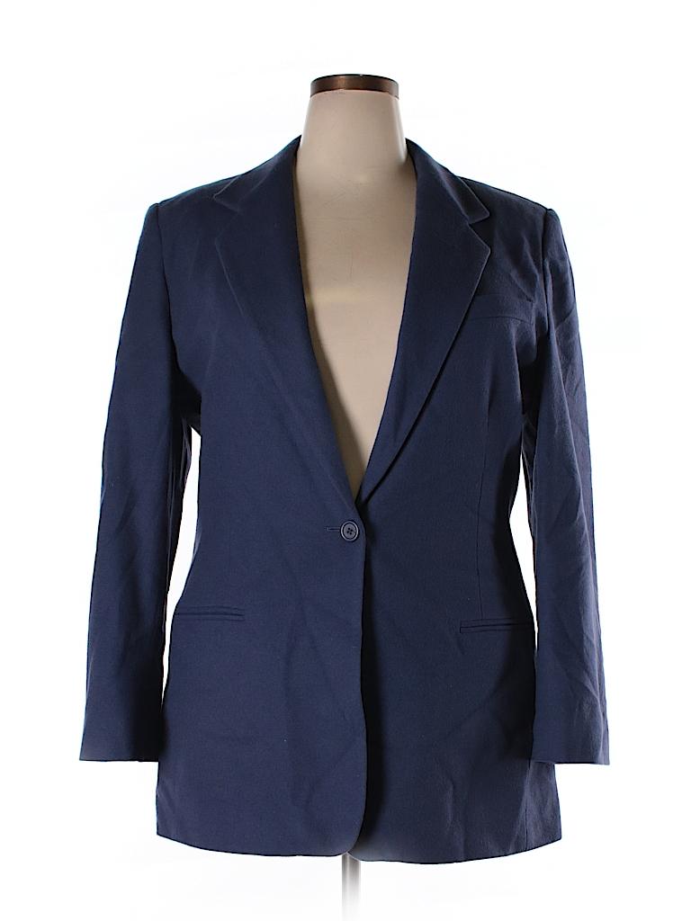 Lands' End Women Wool Blazer Size 18 (Plus)