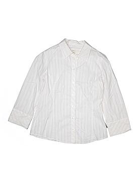 Merona 3/4 Sleeve Button-Down Shirt Size M