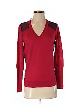 Pink Tartan Wool Pullover Sweater Size XS