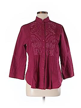 Bleu Bayou 3/4 Sleeve Button-Down Shirt Size M