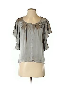 Hinge Short Sleeve Silk Top Size S