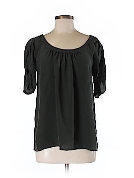 Trinity Short Sleeve Silk Top Size M