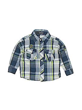Quad Seven Long Sleeve Button-Down Shirt Size 2T