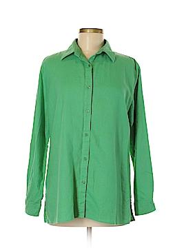 Kim Rogers 3/4 Sleeve Button-Down Shirt Size M