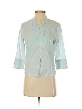 Relativity 3/4 Sleeve Button-Down Shirt Size M (Petite)