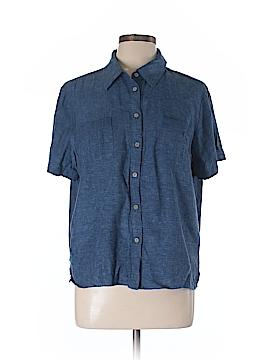 Sag Harbor Short Sleeve Blouse Size L