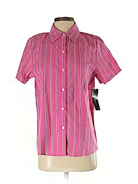 Kim Rogers Short Sleeve Button-Down Shirt Size S