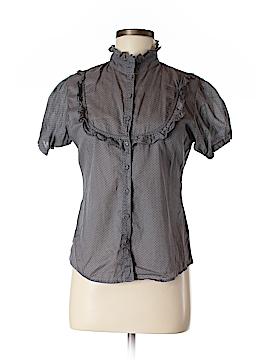 Monki Short Sleeve Button-Down Shirt Size M