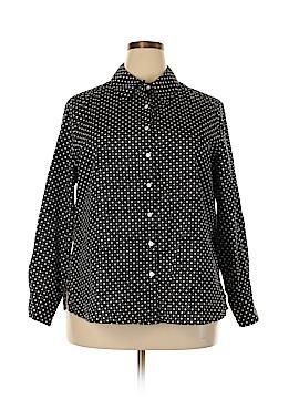 Foxcroft Long Sleeve Button-Down Shirt Size 18W (Plus)