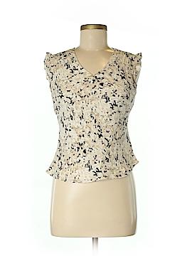 Petite Sophisticate Short Sleeve Silk Top Size 8