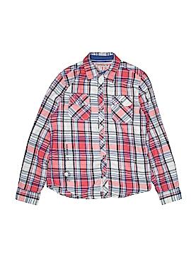 Guess Long Sleeve Button-Down Shirt Size 16/18
