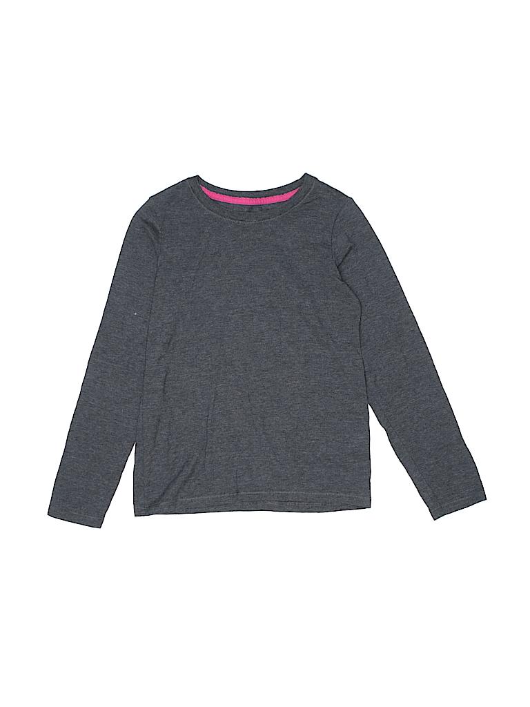 Hanes Girls Long Sleeve T-Shirt Size M (Kids)
