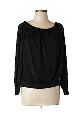 Ellen Tracy Long Sleeve Silk Top Size L