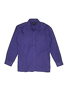 Vangogh Long Sleeve Button-Down Shirt Size 14