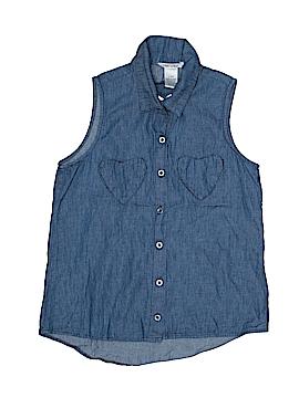 Mia Chica Sleeveless Button-Down Shirt Size 14