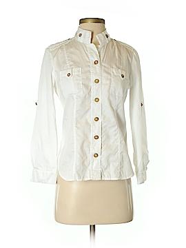 Diane von Furstenberg Long Sleeve Button-Down Shirt Size 4
