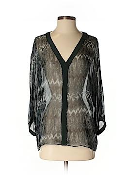 Aaron Ashe 3/4 Sleeve Silk Top Size S