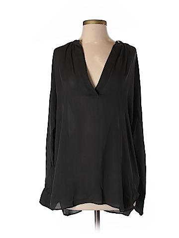 Vince. Long Sleeve Silk Top Size S