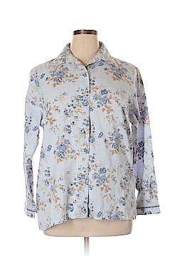 DressBarn Long Sleeve Button-Down Shirt Size 14