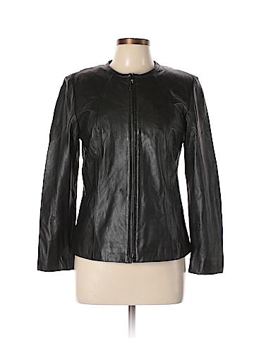 David Brooks Leather Jacket Size 8