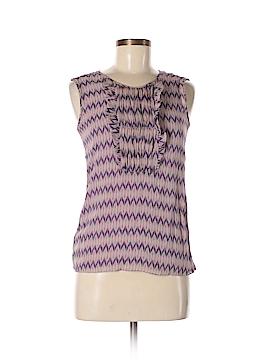 RENA LANGE Sleeveless Silk Top Size 6