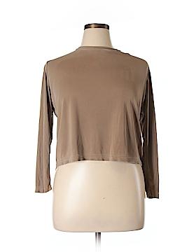 Alex Garfield Long Sleeve Silk Top Size XL