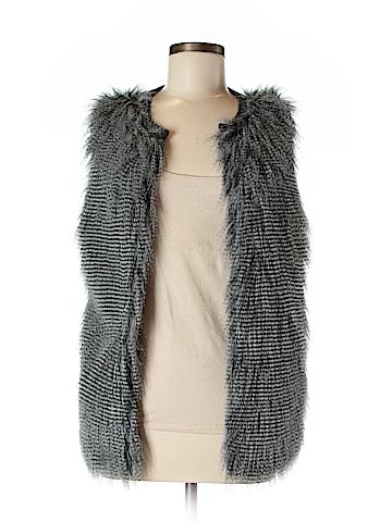 Design History Faux Fur Vest Size M