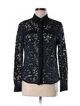 Badgley Mischka Long Sleeve Button-Down Shirt Size M