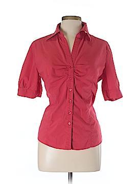 New Balance Short Sleeve Button-Down Shirt Size L
