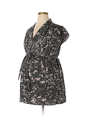 Liz Lange Maternity Short Sleeve Blouse Size XL (Maternity)